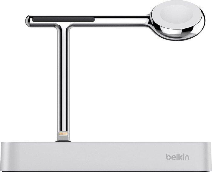 Belkin Valet Ladestation für Apple Watch und iPhone silber (F8J183vfSLV)