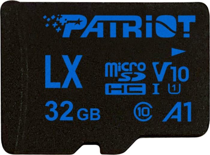 Patriot LX R90 microSDHC 32GB Kit, UHS-I U1, A1, Class 10 (PSF32GLX11MCH)