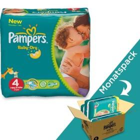 Pampers Baby-Dry Gr.4 Einwegwindel, 7-18kg, 174 Stück