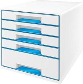 Leitz Wow Cube mit 5 Laden blau (52142036)