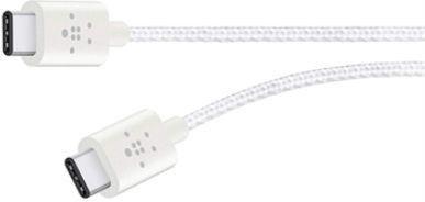 Belkin MIXIT USB 2.0 Kabel, USB-C 2.0/USB-C 2.0, 1.8m, weiß (F2CU041bt06-WHT)