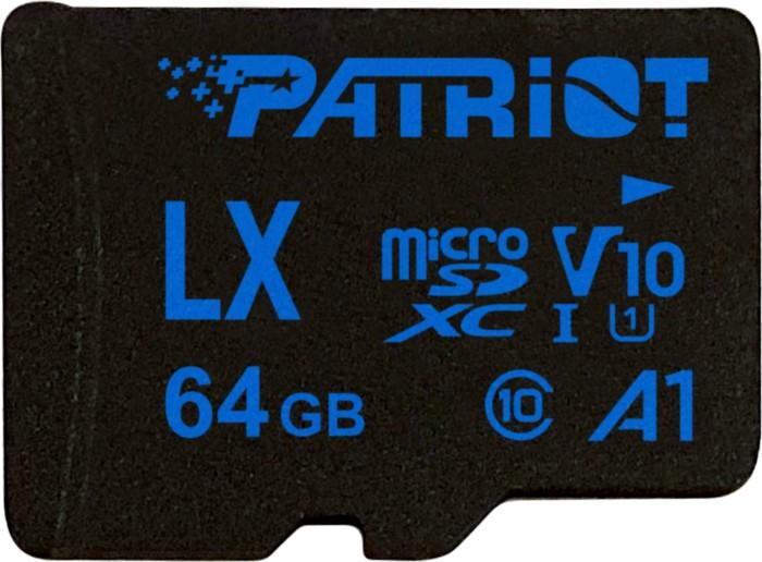 Patriot LX R90 microSDXC 64GB Kit, UHS-I U1, A1, Class 10 (PSF64GLX11MCX)