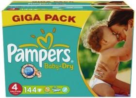 Pampers Baby-Dry Gr.4 Einwegwindel, 7-18kg, 144 Stück