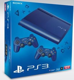 Sony PlayStation 3 Super Slim - 12GB Bundle inkl. 2 Controller blau