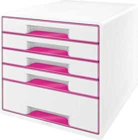 Leitz Wow Cube mit 5 Laden rosa (52142023)