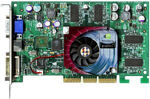 Sparkle SP7200T2, GeForce4 Ti4200, 128MB DDR, DVI, VIVO, AGP