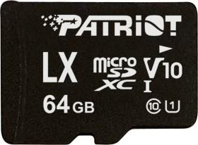 Patriot LX R90 microSDXC 64GB Kit, UHS-I U1, Class 10 (PSF64GLX1MCX)