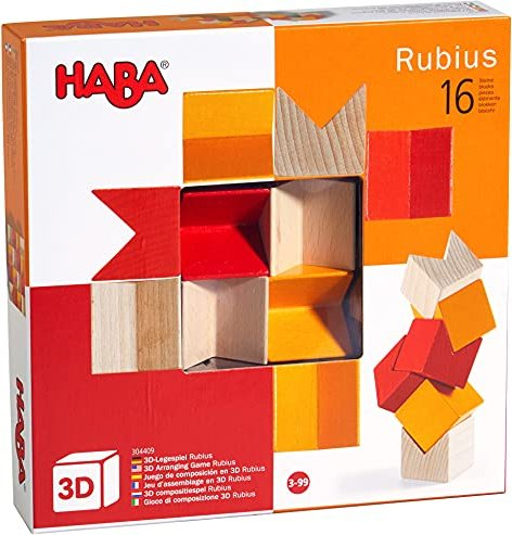 Motorikspielzeug 3D-Legespiel Rubius kreativ/unterschiedliche Farben Stück Deutsch 2019 Stapelspiele