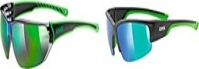 UVEX sportstyle 204 schwarz-grün/grün