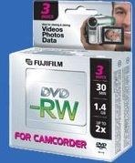 Fujifilm DVD-RW 1.4GB 2x, 10-pack, 8cm