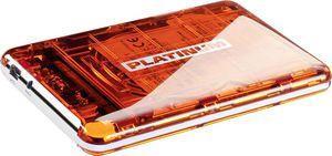 BestMedia Platinum MyDrive transparent orange 1TB, USB 2.0