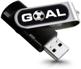 Goodram Twister Goal 8GB, USB-A 2.0 (PD8GH2GRTSKR9+GOAL)