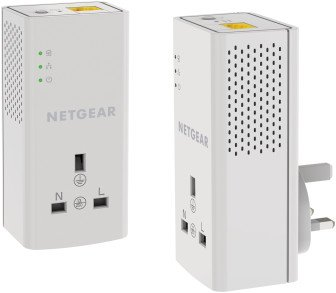 Netgear Powerline 1200 Kit mit Steckdose (PLP1200-100UKS)