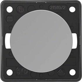 Berker Integro FLOW Ausschalter 2-polig, grau glänzend (936522507)