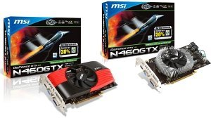 MSI N460GTX-MD1GD5/OC, GeForce GTX 460, 1GB GDDR5, VGA, DVI, HDMI