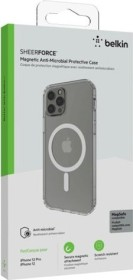 Belkin magnetic Anti-Microbial Protective case for Apple iPhone 12/12 Pro transparent (MSA002btCL)