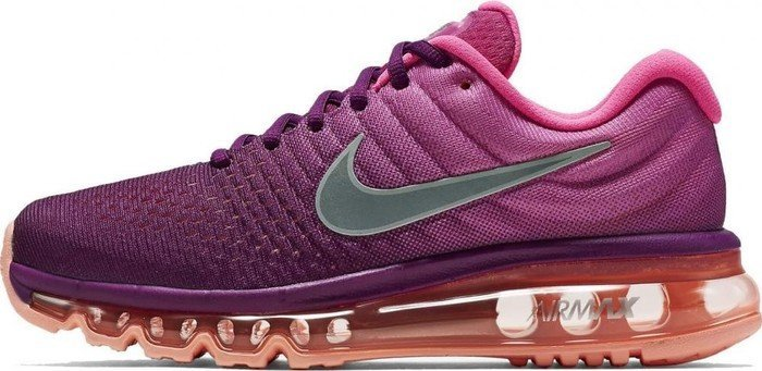 big sale 82545 541fc Nike Air Max 2017 bright grapepink blastpeach creamwhite (ladies