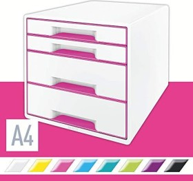 Leitz Wow Cube mit 4 Laden rosa (52132023)