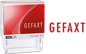 COLOP Printer 20 LGT Textstempel GEFAXT, 38x14mm, rot (100673)