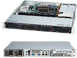 Supermicro 813MTQ-R400CB black, 1U, 400W redundant