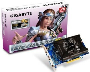Gigabyte Radeon HD 4650, 1GB DDR2, VGA, DVI, HDMI (GV-R465D2-1GI)