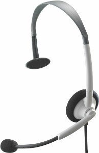 Microsoft Xbox 360 headset, light grey/black (Xbox 360) (B4D-00002)
