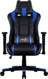 AeroCool AC220 AIR Gamingstuhl, schwarz/blau (AC220AIR-BB)