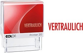 COLOP Printer 20 LGT Textstempel VERTRAULICH, 38x14mm, rot (100675)