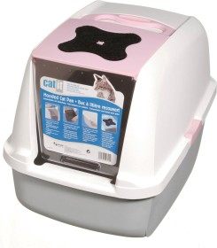 Catit cat litter box with roof, big, pink (50700)