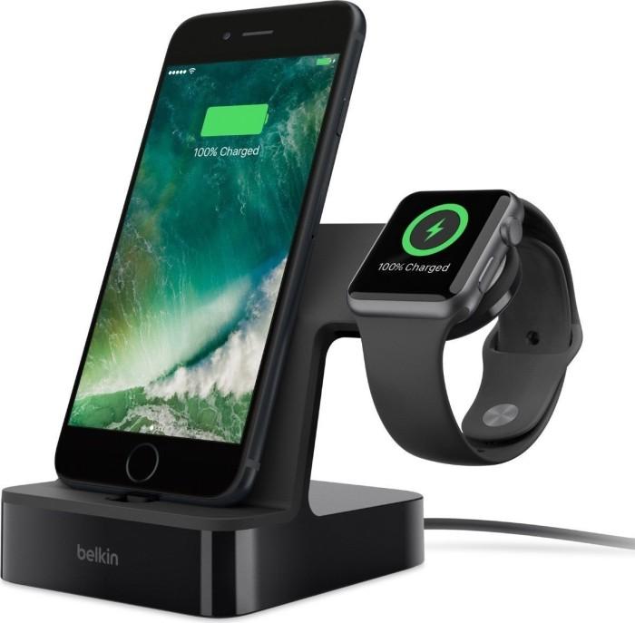 Belkin PowerHouse Ladestation für Apple Watch und iPhone schwarz (F8J200VFBLK)