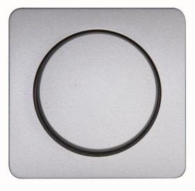 Kopp Milano Dimmer-Abdeckung für Druck-Wechseldimmer, stahlfarben (328820188)