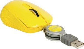 Sweex MI1080 Pocket Mouse Barcelona gelb, USB (NPMI1080-05)