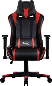 AeroCool AC220 AIR Gamingstuhl, schwarz/rot (AC220AIR-BR)