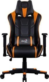 AeroCool AC220 AIR Gamingstuhl, schwarz/orange (AC220AIR-BO)