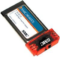 SMC 8040TX EZ PC Card, RJ-45 10/100Mbps, PCMCIA (Type II)
