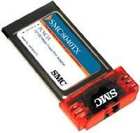 SMC 8040TX EZ PC Card, RJ-45 10/100Mbps, PCMCIA [Type II]