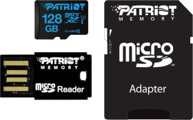 Patriot Instamobile R90 microSDXC 128GB Kit, UHS-I U1, Class 10, mit USB Adapter (PIF128GMCSXC10UK)