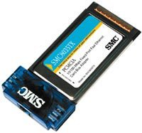 SMC 8035TX EZ CardBus Card, RJ-45 10/100Mbps, PC Card [Type III]