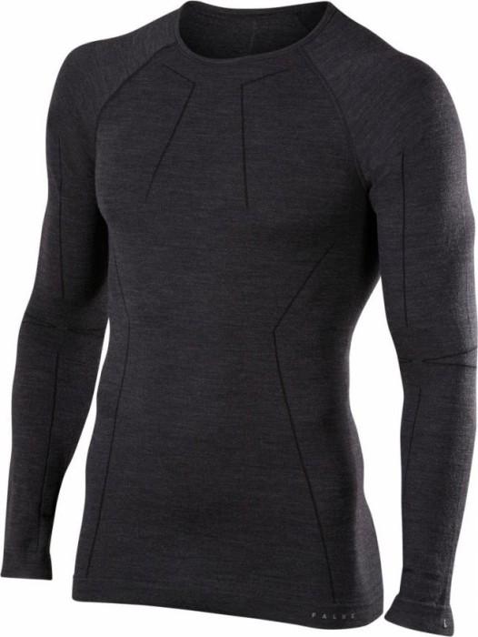 Falke Wool-Tech Shirt langarm schwarz (Herren) -- ©keller-sports.de