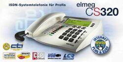bintec elmeg CS320 weiß ISDN Comfort Telefon, Display 4x24 Zeichen, USB