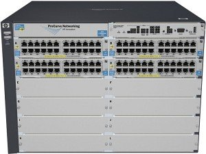 HP ProCurve 5400zl Rackmount Gigabit Managed Switch, 96x RJ-45, 8x Modul-Slot (J8700A/5412zl-96G)