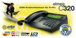 bintec elmeg C320 antracyt ISDN Comfort telefon, wyświetlacz 4x24 znaków, USB