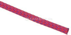 "Techflex Flexo PET 1/8""/3.2mm blue/red, fabric tube (PTN0.13-SH) -- © caseking.de"