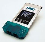 SMC 8034TX-56K EZ Multifunction PC Card, RJ-45 10/100Mbps + 56k Modem, PCMCIA (Type II)