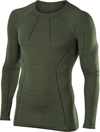 Falke Wool-Tech Shirt langarm olive (Herren) -- via Amazon Partnerprogramm