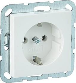 Gira System 55 SCHUKO-Steckdose 16A 250V, reinweiß seidenmatt (0188 27)
