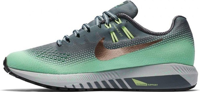 low priced 6c607 40868 Nike Air zoom Structure 20 Shield hasta green glow ghost green metallic red