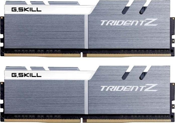 G.Skill Trident Z silber/weiß DIMM Kit 16GB, DDR4-4000, CL18-19-19-39 (F4-4000C18D-16GTZSW)