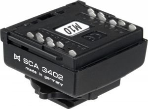 Metz SCA 3402 adapters for Fujifilm/Nikon -- via Amazon Partnerprogramm