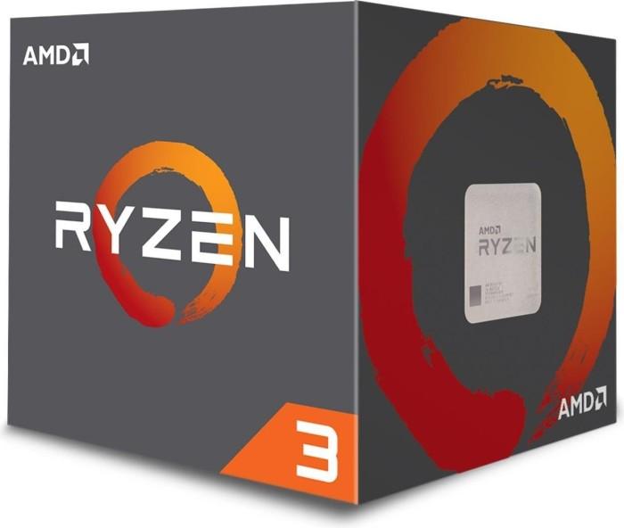 AMD Ryzen 3 1200 (12nm), 4C/4T, 3.10-3.40GHz, boxed (YD1200BBAFBOX)